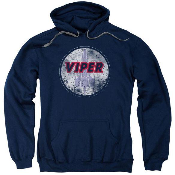 Bsg War Torn Viper Logo Adult Pull Over Hoodie