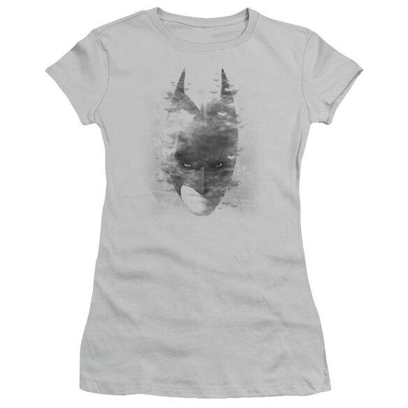 Dark Knight Rises Bat Head Short Sleeve Junior Sheer T-Shirt