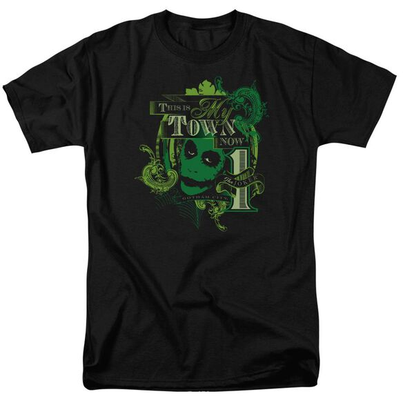 Dark Knight My Town Now Short Sleeve Adult Black T-Shirt