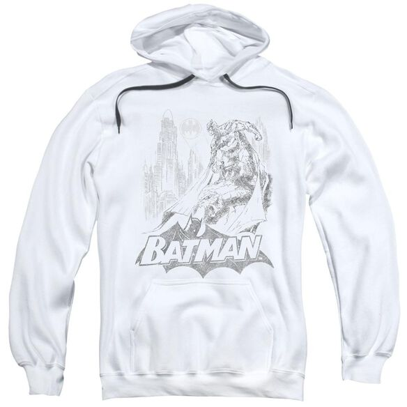 Batman Bat Sketch Adult Pull Over Hoodie