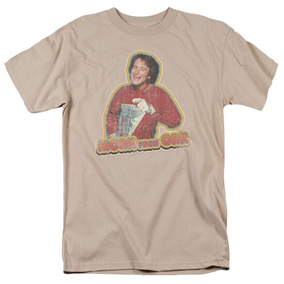 Mork & Mindy Mork Iron On Short Sleeve Adult Sand T-Shirt
