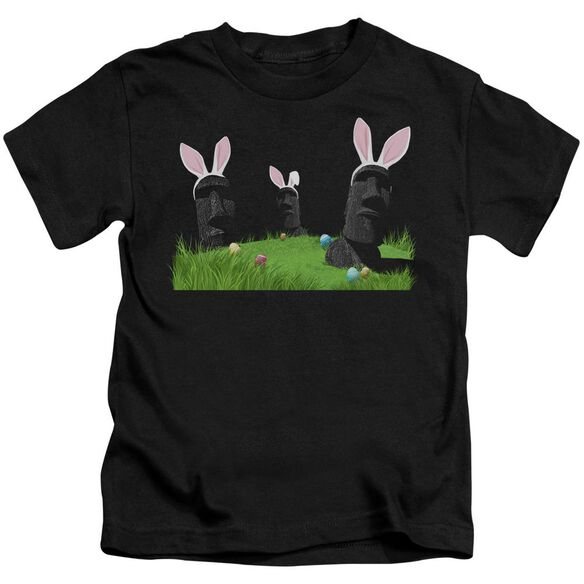 Easter Island Short Sleeve Juvenile Black T-Shirt