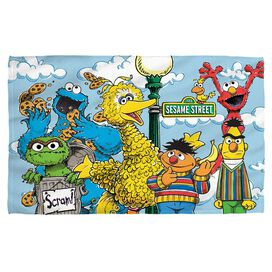 Sesame Street Retro Gang Golf Towel White Face