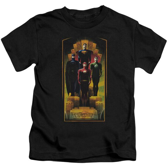 Jla Deco Short Sleeve Juvenile Black T-Shirt