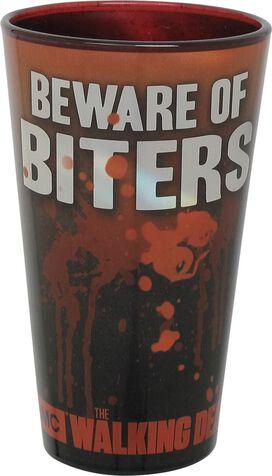 Walking Dead Beware of Biters Pint Glass