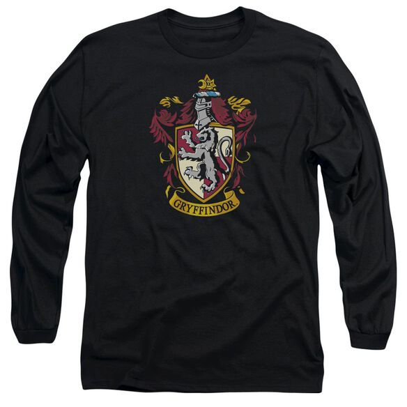 Harry Potter Gryffindor Crest Long Sleeve Adult T-Shirt