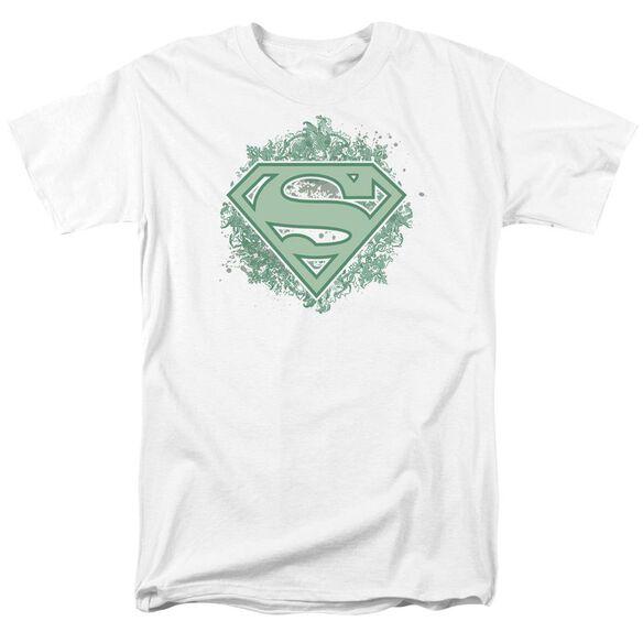 Superman Ornate Shield Short Sleeve Adult T-Shirt