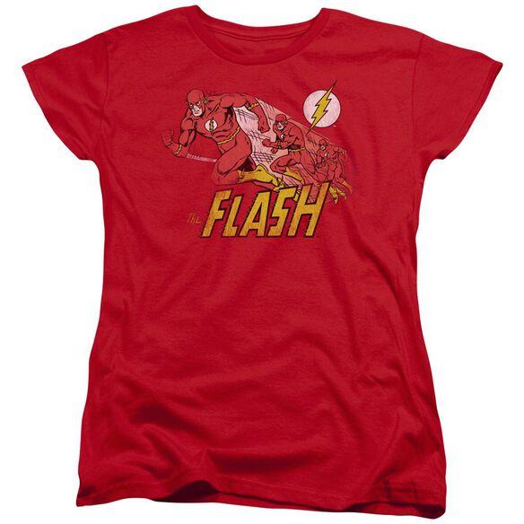 Dc Flash Crimson Comet Short Sleeve Womens Tee T-Shirt