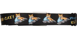 Keyboard Cat Play Me Off Seatbelt Mesh Belt