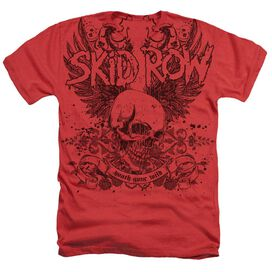 Skid Row Skull And Wings Adult Heather