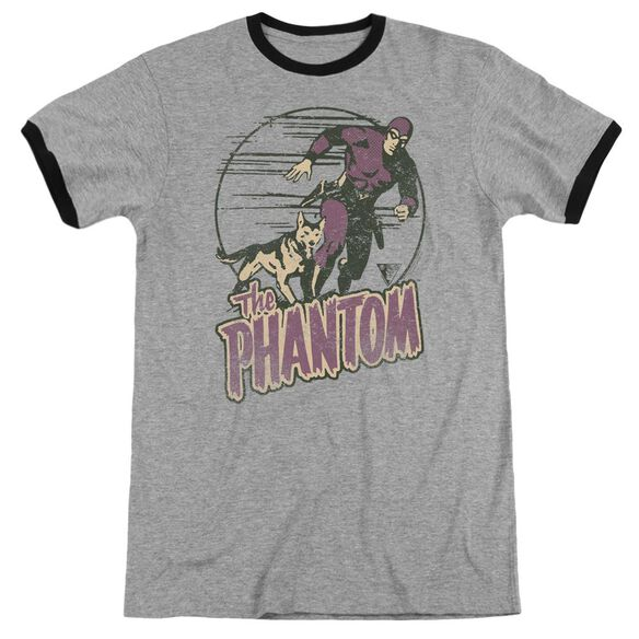 Phantom Phantom And Dog Adult Ringer Heather Black