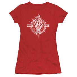 Constantine Damed To Hell Short Sleeve Junior Sheer T-Shirt