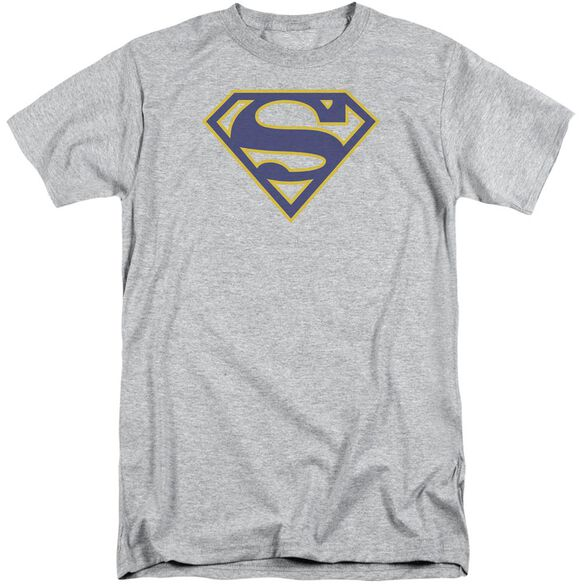 Superman Maize & Blue Shield Short Sleeve Adult Tall Athletic T-Shirt