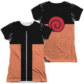 Naruto Shippuden Costume (Front Back Print) Short Sleeve Junior Poly Crew T-Shirt