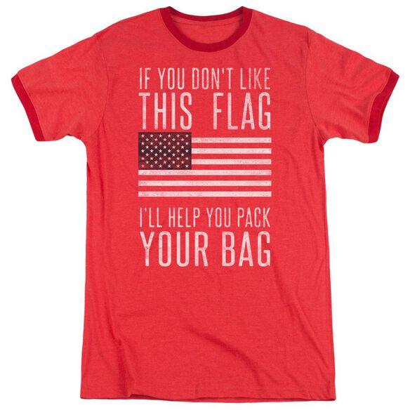 Pack Your Bag Adult Ringer Red