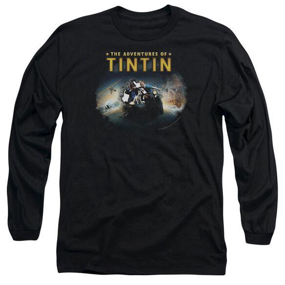 Tintin Journey Long Sleeve Adult T-Shirt