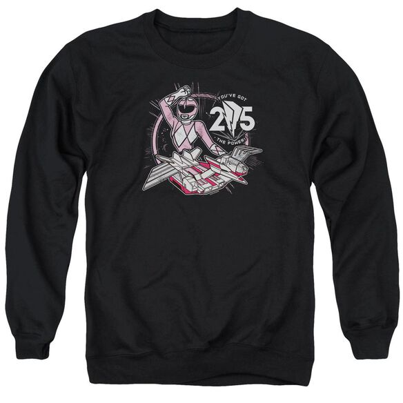 Power Rangers Pink 25 Adult Crewneck Sweatshirt