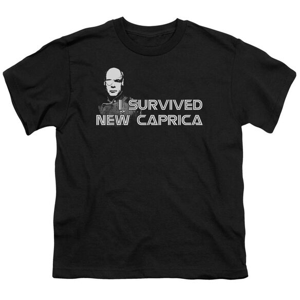 BSG I SURVIVED NEW CAPRICA - S/S YOUTH 18/1 - BLACK T-Shirt
