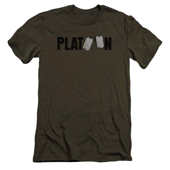 Platoon Logo Premuim Canvas Adult Slim Fit Military