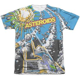 Atari Asteroids All Over Adult Poly Cotton Short Sleeve Tee T-Shirt