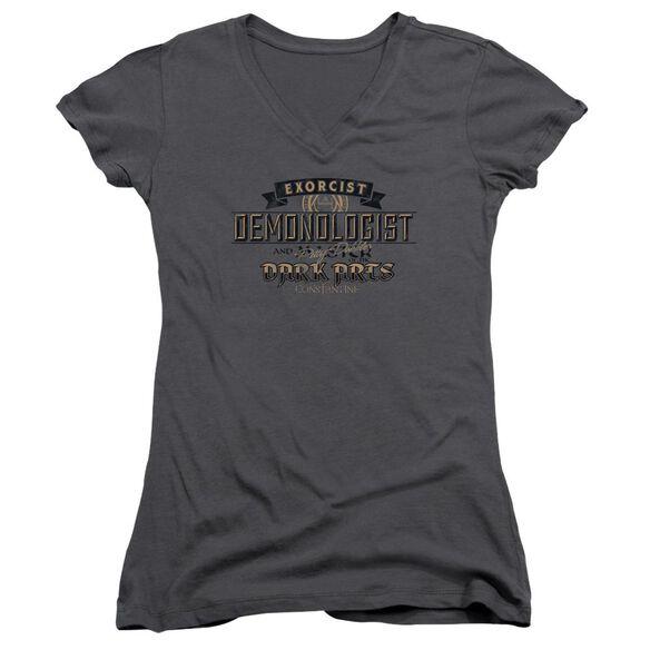 Constantine Demonologist Junior V Neck T-Shirt