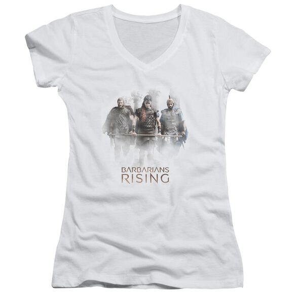 Barbarians Rising Three Barbarians Junior V Neck T-Shirt