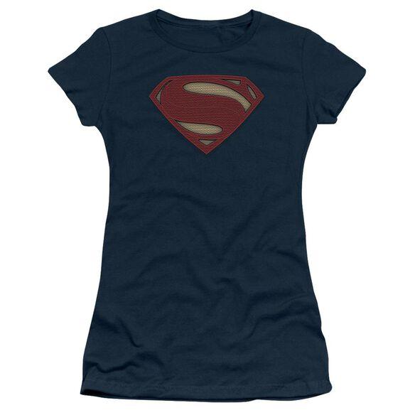 Batman V Superman Super Movie Logo Short Sleeve Junior Sheer T-Shirt