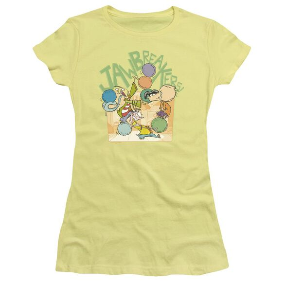 Ed Edd N Eddy Jawbreakers Short Sleeve Junior Sheer T-Shirt