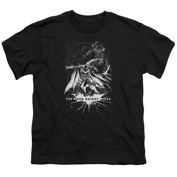 Dark Knight Rises Rising Sketch Short Sleeve Youth T-Shirt