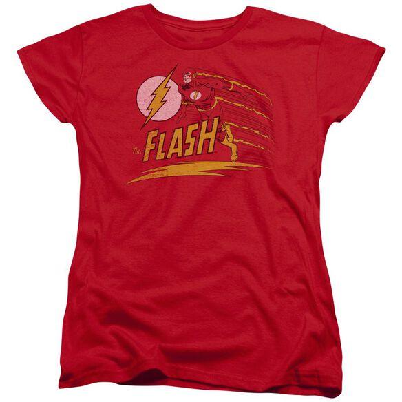 Dc Flash Like Lightning Short Sleeve Womens Tee T-Shirt