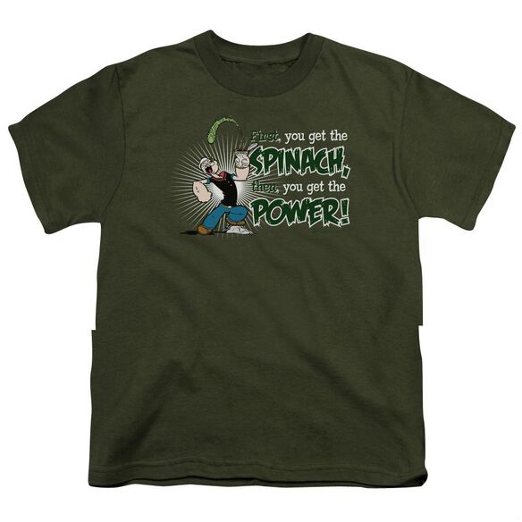 POPEYE SPINACH POWER - S/S YOUTH 18/1 - MILITARY GREEN T-Shirt