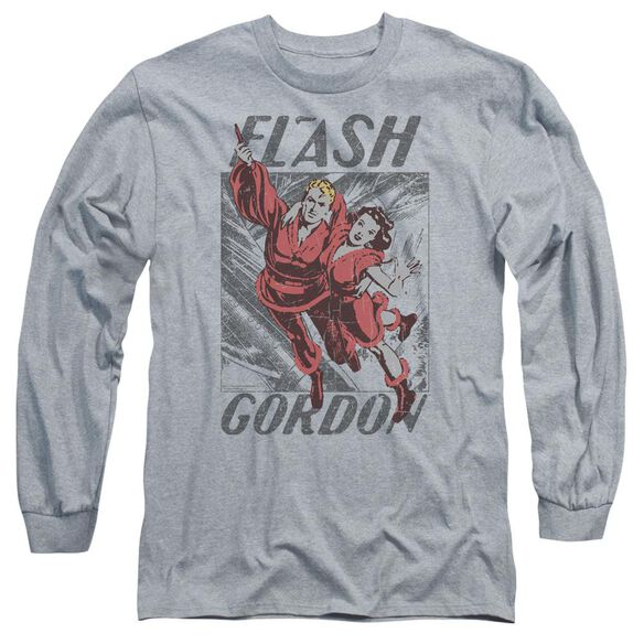 Flash Gordon To The Rescue Long Sleeve Adult Athletic T-Shirt