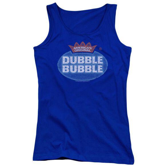 Dubble Bubble Vintage Logo - Juniors Tank Top - Royal Blue