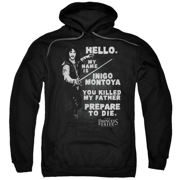 Princess Bride Hello Again Adult Pull Over Hoodie