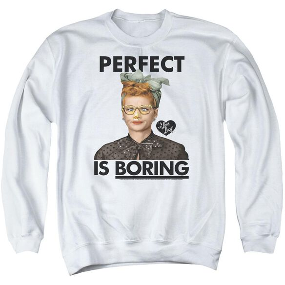 I Love Lucy Perfect Is Boring Adult Crewneck Sweatshirt
