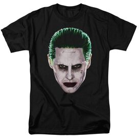 Suicide Squad Joker Head Short Sleeve Adult T-Shirt