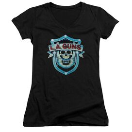 La Guns La Guns Shield Junior V Neck T-Shirt