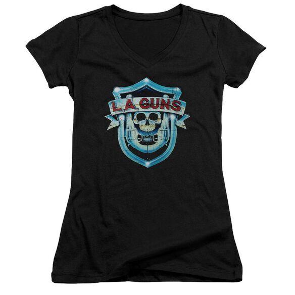 La Guns La Guns Shield Junior V Neck T-Shirt