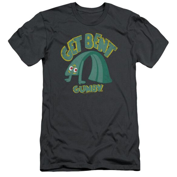 GUMBY GET BENT - S/S ADULT 30/1 - CHARCOAL T-Shirt