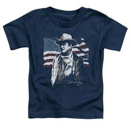 John Wayne American Idol Short Sleeve Toddler Tee Navy T-Shirt