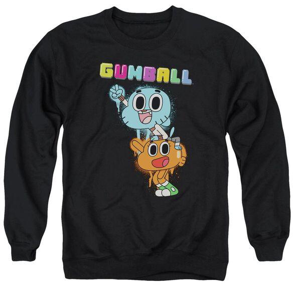 Amazing World Of Gumball Gumball Spray Adult Crewneck Sweatshirt