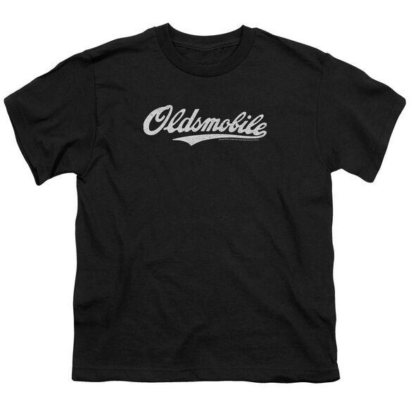 Oldsmobile Oldsmobile Cursive Logo Short Sleeve Youth T-Shirt
