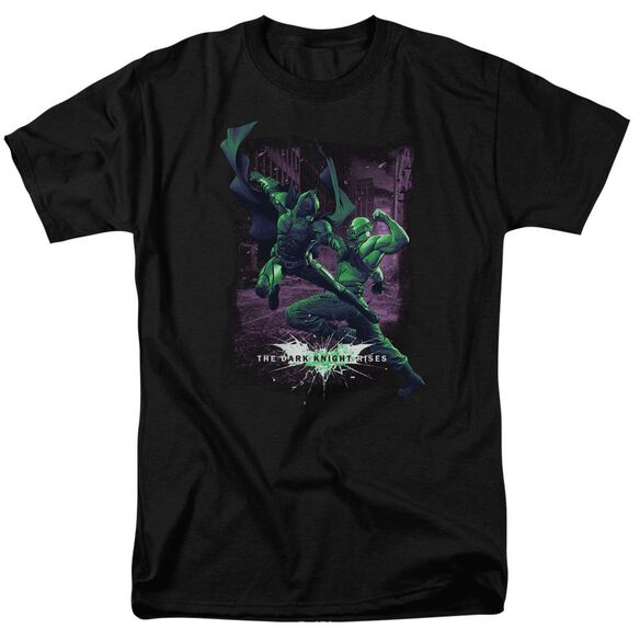 Dark Knight Rises Bat Vs Bane Short Sleeve Adult Black T-Shirt
