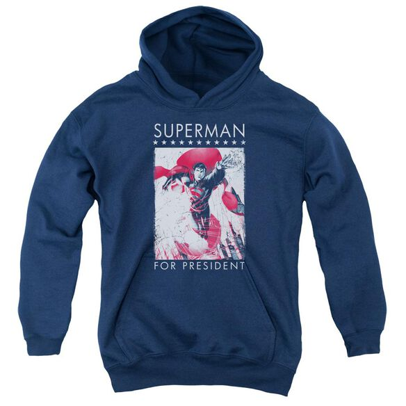 Superman Superman For President Youth Pull Over Hoodie