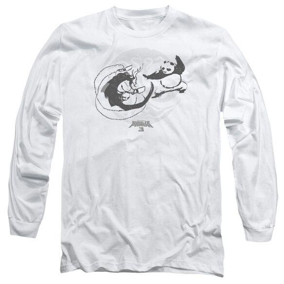 Kung Fu Panda Face Off Long Sleeve Adult T-Shirt