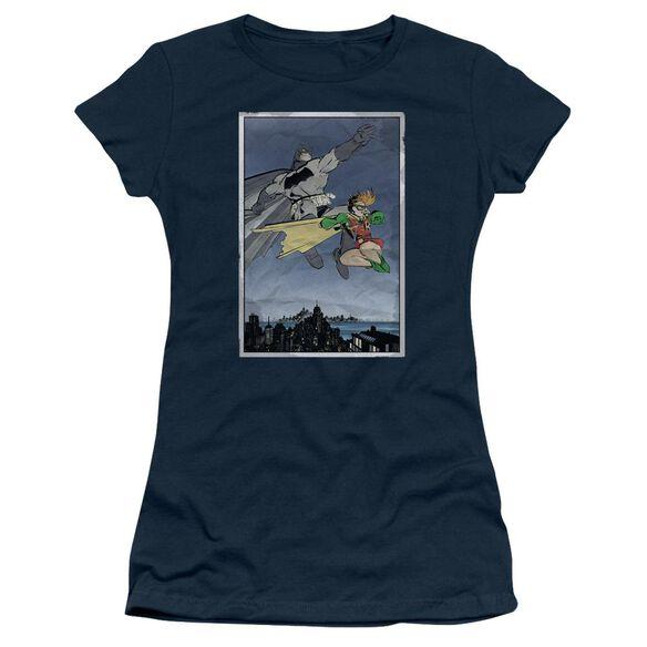 Batman Dkr Duo Short Sleeve Junior Sheer T-Shirt