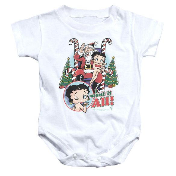 Betty Boop I Want It All Infant Snapsuit White