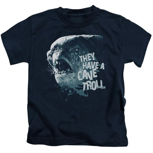 Lor Cave Troll Short Sleeve Juvenile Navy T-Shirt