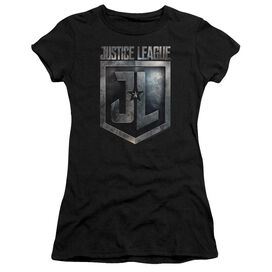 Justice League Movie Shield Logo Short Sleeve Junior Sheer T-Shirt