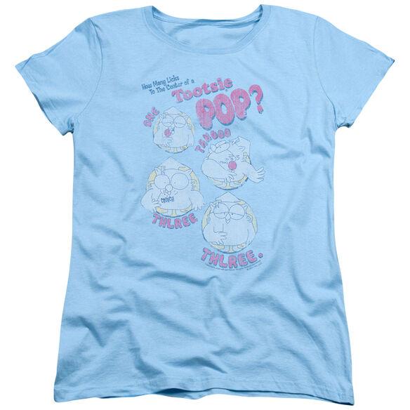 TOOTSIE ROLL THREE - S/S WOMENS TEE - LIGHT BLUE T-Shirt